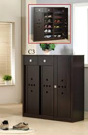 small black cabinet with doors black color shoe rack storage with sliding door for small wardrobe