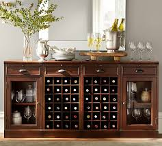 Buffet Bar Cabinet Modular Bar Buffet With 2 Wine Grid Bases 2 Glass Door Cabinets