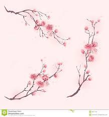 Peinture Cerisier Japonais by Peinture Orientale De Style Fleurs De Cerisier Au Printemps Photo