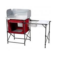 Amazoncom Ozark Trail Deluxe Camp Grill And Sink Table Sports - Camping kitchen with sink
