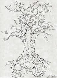 outline family tree tattoo on back real photo pictures images
