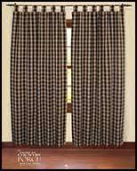 tab top curtain window panels