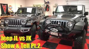 live show and tell 2018 jeep wrangler jl vs 2017 wrangler jk