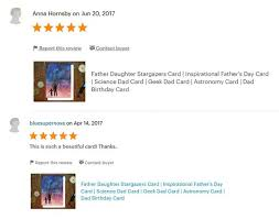 father daughter stargazing card science dad card geeky
