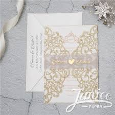 invitation paper gorgeous lace glitter paper laser cut wedding invitations wpl0041g