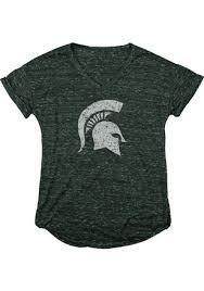 Michigan Sparty Halloween Costume Michigan Spartans Womens Green Confetti Neck Sparty