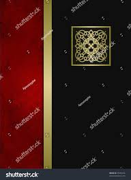 classy halloween background elegant formal black red gold background stock illustration