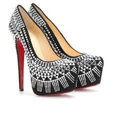 golden chain christian louboutin art deco pumps shoes