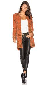 House Of Harlow 1960 Beaded House Of Harlow 1960 X Revolve Amber Embellished Coat In Burnt