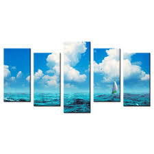 sailboat home decor wall picture canvas for home decor sailboat sailing on sea wall