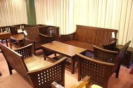 Teak Wood Sofa Set K A Kutties Wood Crafts Manufacturer In - Teak wood sofa set designs