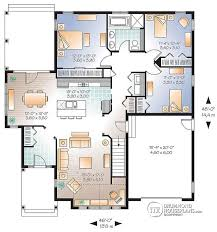 3 Bedroom Open Floor House Plans House Plan W3235 V1 Detail From Drummondhouseplans Com