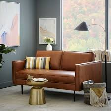 Sofa And Loveseat Leather Axel Leather Loveseat 60 5