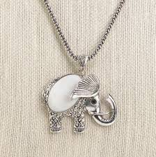 mother of pearl elephant necklace wholesale at koehler home decor