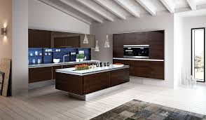 lacquered glass kitchen cabinets 3 layered walnut and lacquered glass modern handleless