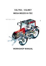 valtra valmet 8550 tractor service repair manual