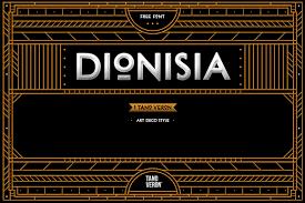 dionisia free artdeco font dealjumbo com u2014 discounted design