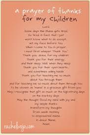 prayer of thanks for my children by wojo prayers