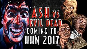halloween horror nights giveaway ash vs evil dead maze coming to hhn 2017 youtube