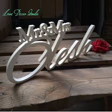 mr mrs sign for wedding table mr mrs wedding top table wedding sign mr mrs last name table