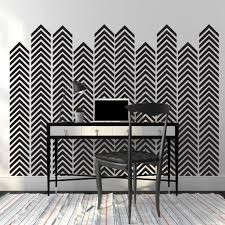 Wall Decals Patterns Color The by Chevron Arrow Pattern Wall Decal 1 Color Shop Decals At Dana Decals