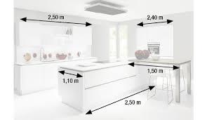 plan cuisine avec ilot central