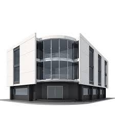 3d model corner building cgtrader