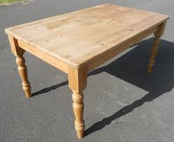 Victorian Style Pine Kitchen Table  Six Chairs - Victorian pine kitchen table