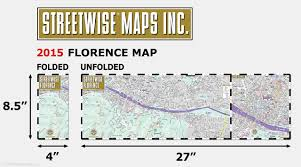 5 Train Map Streetwise Florence Map Laminated City Center Street Map Of