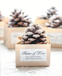 party favors for weddings pinecone starter favors weddings ideas from evermine