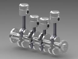 4 cylinder engine 4 cylinder engine iges 3d cad model grabcad