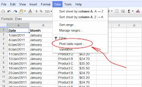 how to do a pivot table in excel 2010 google spreadsheets pivot tables