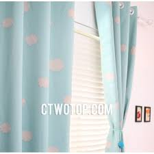 Nursery Boy Curtains Baby Blue Cloud Patterned Beautiful Nursery Curtains