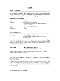 sample resume for a fresh graduate resume for your job application