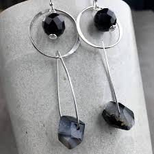 onyx earrings sterling silver onyx earrings handmade by lizardi jewelry