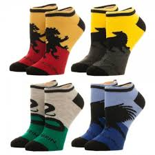 Harry Potter House by Potter Hogwarts House Ankle Socks 4 Pack