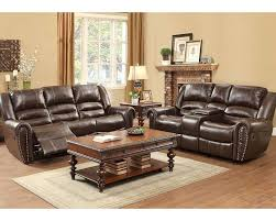 21 center table living room reclining brown sofa set center hill by homelegance el 9668brw 3 set