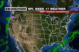 Weather Map Chicago by Nfl Weather Forecast Week 17 Mixed Bag Of Weather Sbnation Com