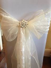 lace chair sashes chair cover with organza lace sash
