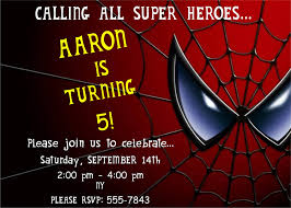 printables theme spiderman birthday invitations cards saflly