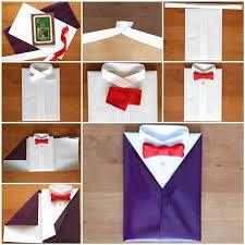 diy gift wrapping like a suit and tie