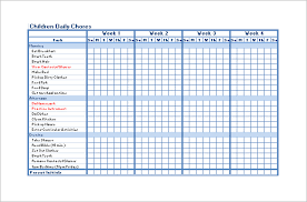 chore chart template 6 free pdf word documents download free