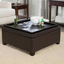 coffee table amazing upholstered ottoman with tray fabric storage