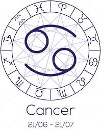 zodiac sign cancer astrological symbol in wheel u2014 stock vector