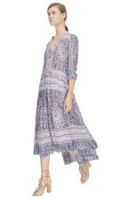rebecca taylor long sleeve tangier paisley v neck dress in pink lyst