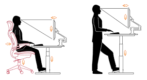 Ergonomic Sit Stand Desk Sit Stand Desks Safety Health And Wellbeing The Of