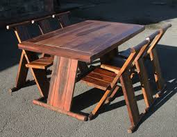 furniture cool folding wooden dining table and chairs dining