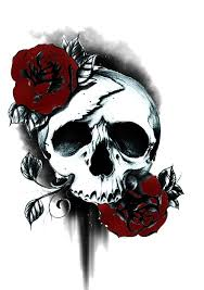 skull and roses ideas amazing