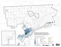 Phoenix Neighborhood Map by Data Driven Detroit Exploring Student Dispersion Maps
