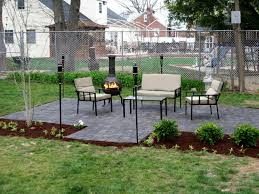 modern style stone backyard patio flagstone patio with stone